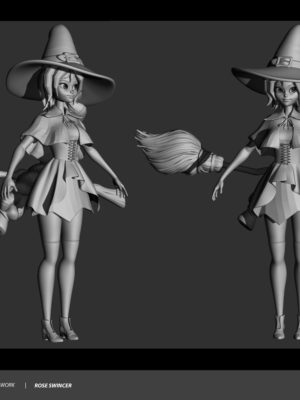 Swincer Rose Character Sculpting Week7 Witch